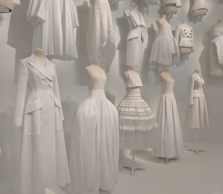 mannequins in white
