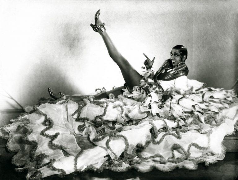 Josephine Baker wearing a huge can can skirt