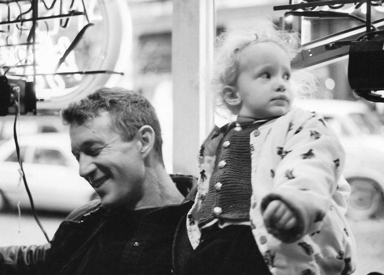 Lilly Dancyger with her father Joe Schactman