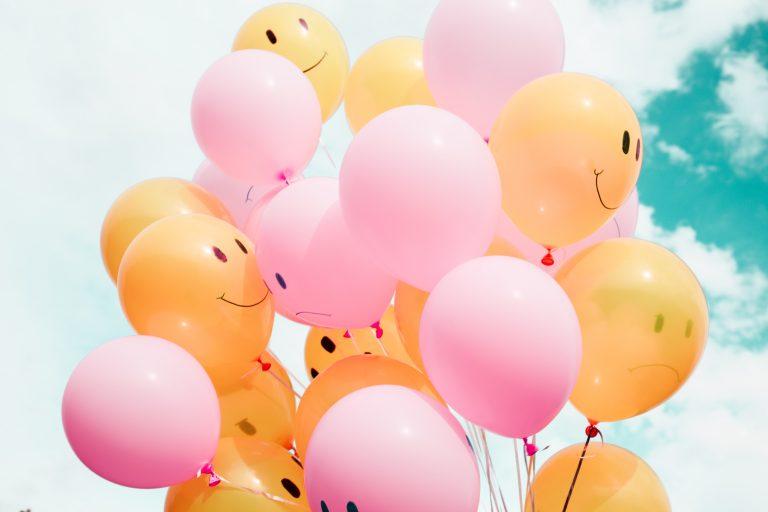 happy sad balloons