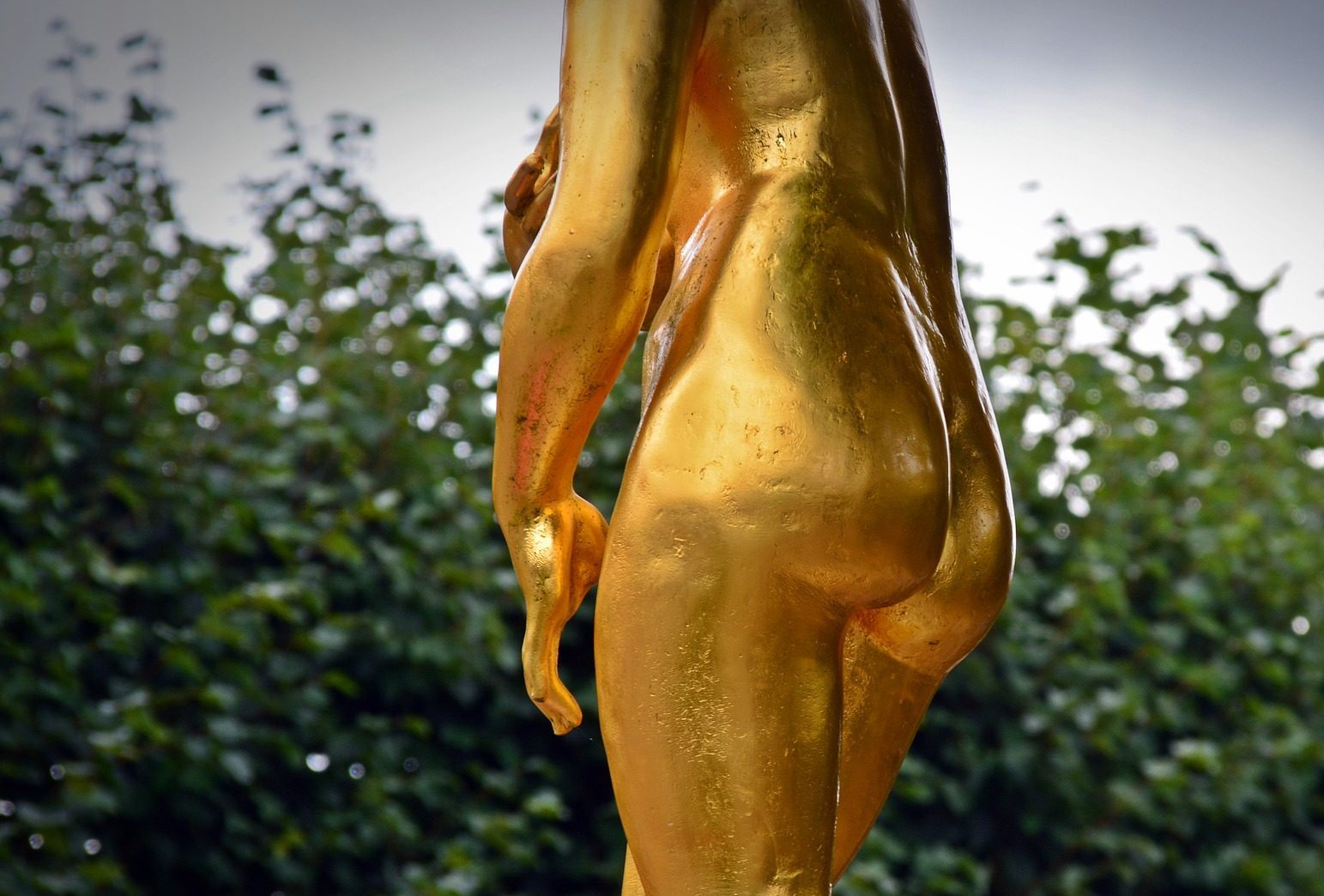 gold statue butt cropped